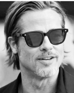 Brad Pitt avec les incontournables #garrettleight ! Modèle Calaber #garrettleight #lunettessolaires #opticien #bodartopticiens